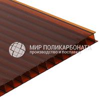Сотовый поликарбонат цвет бронза коричневая