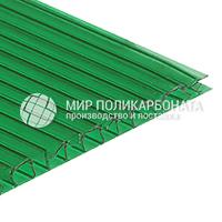 Сотовый поликарбонат цвет зеленый