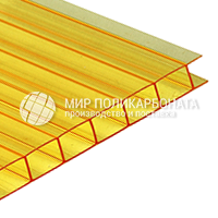 Сотовый поликарбонат цвет желтый