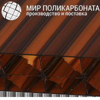 Сотовый поликарбонат 20 мм бронза коричневая