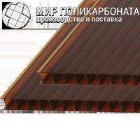 Сотовый поликарбонат 8 мм бронза коричневая
