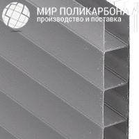 Сотовый поликарбонат 10 мм бронза серая