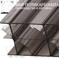 Сотовый поликарбонат 16 мм бронза серая
