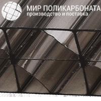 Сотовый поликарбонат 20 мм бронза серая