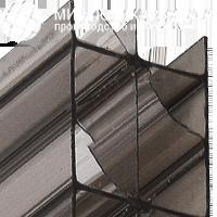 Сотовый поликарбонат 32 мм бронза серая