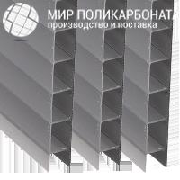 Сотовый поликарбонат 6 мм бронза серая