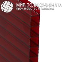 Сотовый поликарбонат 6 мм гранат