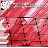 Сотовый поликарбонат 16 мм красный
