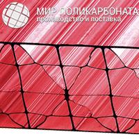 Сотовый поликарбонат 20 мм красный