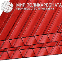 Сотовый поликарбонат 4 мм красный