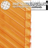 Сотовый поликарбонат 6 мм оранжевый