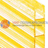 Сотовый поликарбонат 10 мм желтый