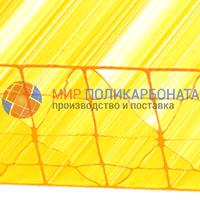 Сотовый поликарбонат 20 мм желтый