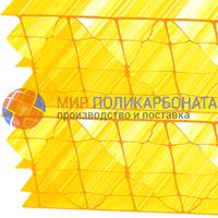 Сотовый поликарбонат 25 мм желтый
