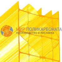 Сотовый поликарбонат 32 мм желтый