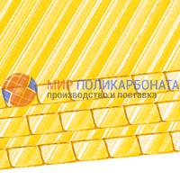 Сотовый поликарбонат 4 мм желтый