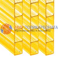 Сотовый поликарбонат 6 мм желтый